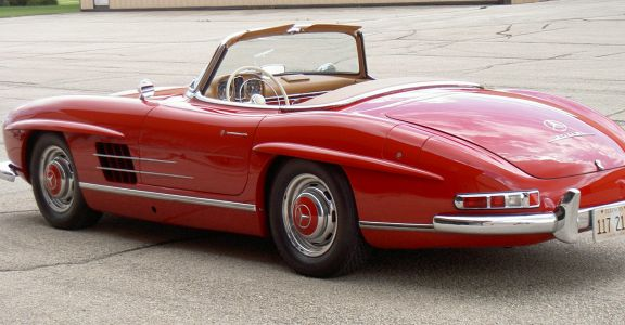 1957 Mercedes Benz 300SL Roadster perspective