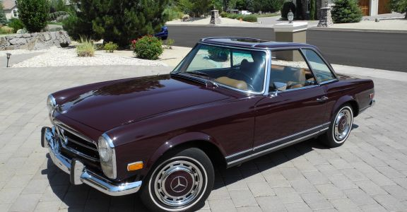 1969 Mercedes Benz 280SL perspective