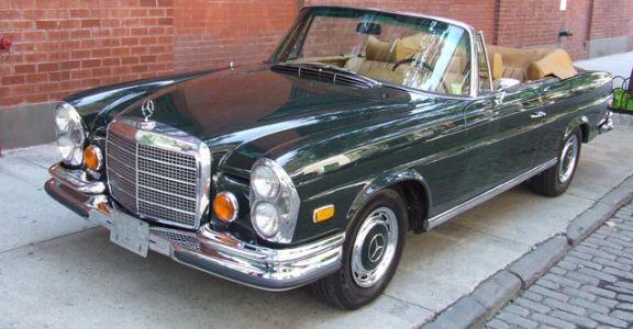 1971 Mercedes 280SE 3.5 Cab perspective