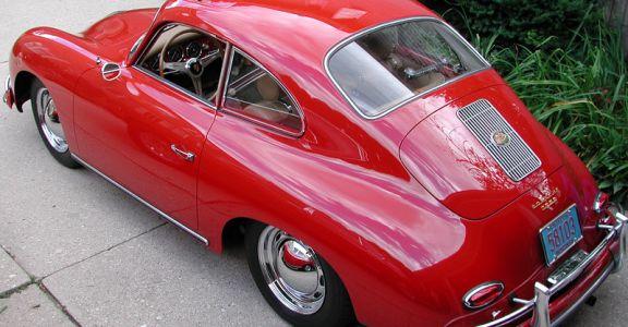 1957 Porsche 356A Coupe perspective
